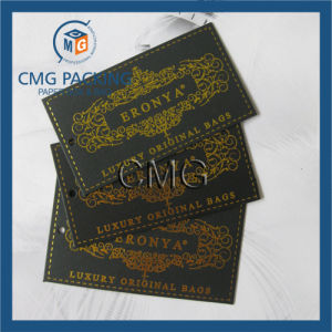 Black Card with Hot Stamping Clothing Hang Tag pictures & photos