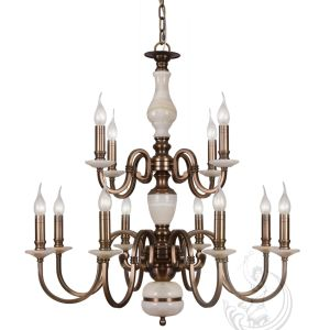 Chandelier with Marble, Golden Iron Pendant Lighting Fixture (SL2260-6) pictures & photos