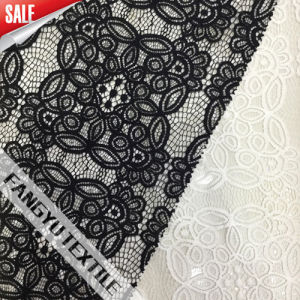 High Qaulity Black/White Elegant Lace Fabric