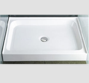 Cupc Upc Three Wall Alcove Tile Flange Acrylic Shower Base pictures & photos