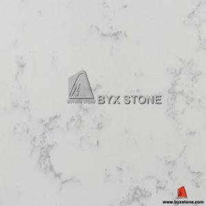 Pinpoinl White Quartz Slab with Little Light Grey Veins pictures & photos
