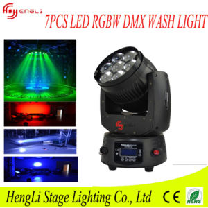 7*12W RGBW 4in1 LED Moving Head Light with Dyeing Effect pictures & photos