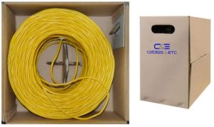 UTP CAT6 Ethernet LAN Cable 305m Fluke-Tested 10/100/1000 Base Yellow pictures & photos