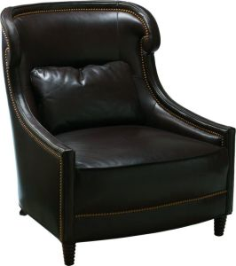 (CL-2208) Antique Hotel Wood Leather Armchair pictures & photos