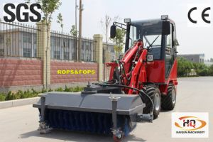 New Ce Approved Articulated Mini Loader (HQ908) with Road Sweeper pictures & photos