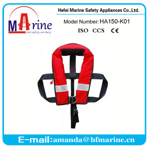 Ec Approved Red Color Teenage Inflatable Life Vest pictures & photos