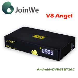 Android+ DVB-S2 T2 C Android 4.4 TV Box V8 Angel pictures & photos