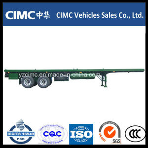 Cimc 2-Axle 20FT Container Flatbed Trailer pictures & photos