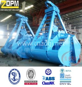 Four Ropes Mechanical Clamshell Leak Proof Grab Bucket Grapple pictures & photos