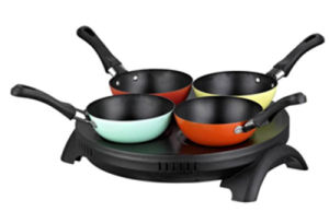 Sale Pancake Maker with 4 Color Woks for Family Party pictures & photos