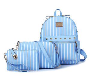 Women Combos 3PCS Leather Student School Designer Packback Bag (XM0281) pictures & photos
