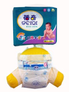 Cheap Hot Sell Diaposable Baby Diaper with PE Backsheet