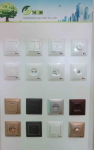 Switch Socket Supplier EU Standard V125 1 Gang TV Socket pictures & photos