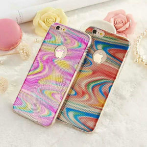 3D Colored Light Wave TPU Phone Cover Mobile Case for Samusng/iPhone