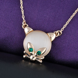 Fashion Accessories Real Gold Plated Cat′s Eye Pendant Jewelry Necklace pictures & photos