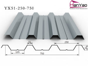 2015 New Galvanized Corrugated Steel Floor Deck Yx51-250-750 pictures & photos