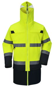 Men′s Parka High Visibility Safety Workwear Reflective Jacket pictures & photos
