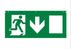 Hanging Type Edge-Lit Rechargeable Battery Operated Running Man Exit Sign pictures & photos