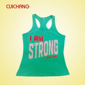 Wholesale Custom Design Cotton Silk Screen Gym Wear pictures & photos