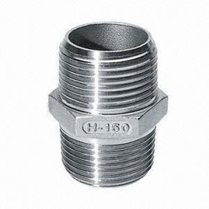 Stainless Steel Threaded Fittings Series Hexagon Nipple pictures & photos