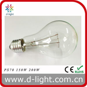 PS70 A70 E27 Clear Incandescent Luminaire Bulb 150W 200W 220V pictures & photos