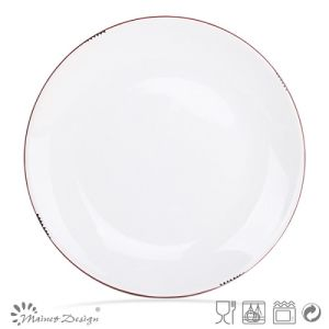 16PCS Dinnerware Set White Glaze with Red Rim Peel Design pictures & photos