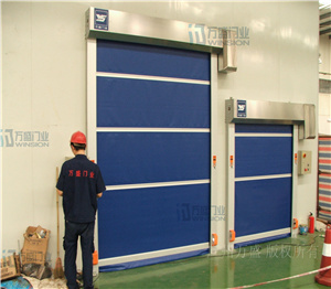 PVC Curtain Material Stainless Steel Electric Door