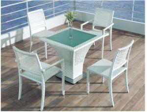 Patio Garden Aluminum PE Outdoor Rattan Dining Chair Set pictures & photos