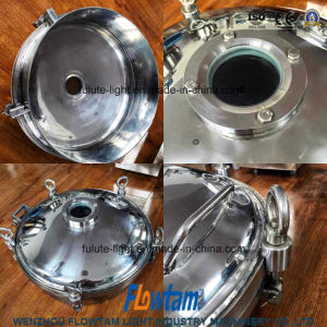 Hygienic Stainless Steel Manway Cover with Sight Glass Manhole Cover pictures & photos