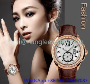 Top-Quality Alloy Luxury Watches with Genuine Leather Hl- 15046 pictures & photos