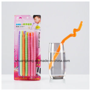 Plastic Long Flexible Whistle Straw pictures & photos