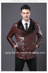 2015 New Fashion Casual Men′s Real Leather Jacket pictures & photos