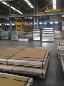 5754 H111 Aluminum Sheet for Railway Carriage with PE Film pictures & photos