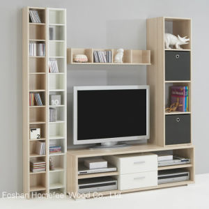 Contemporary Wooden TV & CD Storage Cabinet Set (HF-EY08293) pictures & photos