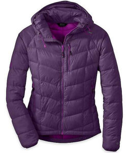 Outdoor Women Fashion Hoody Down Jacket pictures & photos