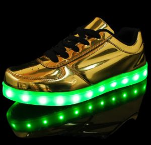 2017 USB Charging PU LED Shoes pictures & photos