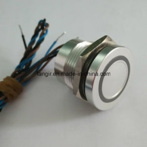 Langir 19mm 3.00 Flat Head Bi-Color Self-Locking Piezo Switch pictures & photos