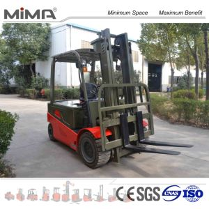 Brand New Four Wheel Electric Forklift with 3meter Lifting Height pictures & photos