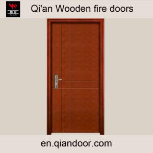 Macore Veneer Fire-Rated Wooden Composite Door pictures & photos