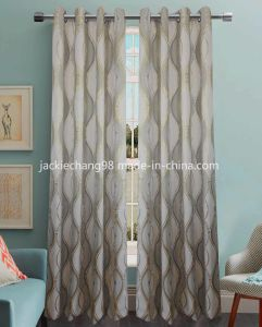 Jacquard Grommet Panel Window Curtain (HR14WT110) pictures & photos