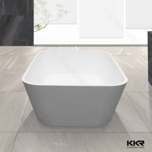 Artificial Stone Very Small Freestanding Black Bathtub pictures & photos