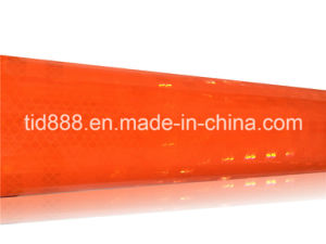 Orange High Intensity Prismatic Reflective Sheeting for Traffic Safety pictures & photos