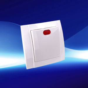 1 Gang 1 Way Wall Switch with Indicator (YW2501) pictures & photos