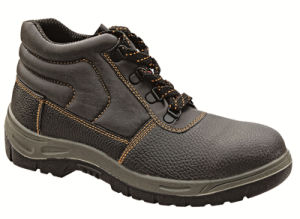 Ufa013 Middle Cut PU Artificial Leather Cheap Groundwork Safety Shoes Boots pictures & photos