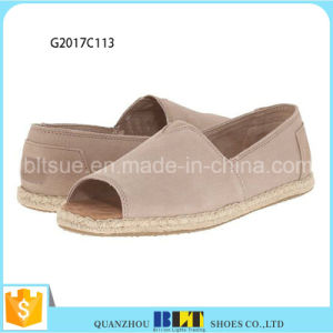 New Model Open Toe Canvas Nubuck Shoes pictures & photos