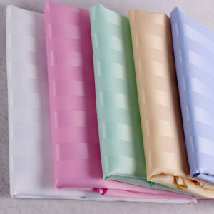 100%Polyester Stripe Waterproof Shower Curtain Wholesale (DPF061130) pictures & photos