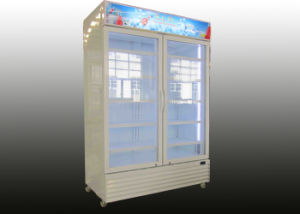 1200L Double Door Upright Beverage Showcase pictures & photos