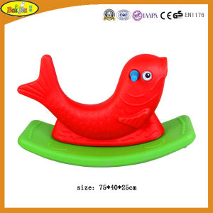 Children Plastic Double Color Fish Rocking Horse