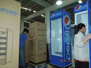Single Door Upright Showcase Cooler with Fan Assisted Cooling System pictures & photos