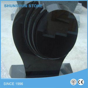 Angle Heart Shape Black Granite Tombstone/ Headstone/ Momument Stone pictures & photos